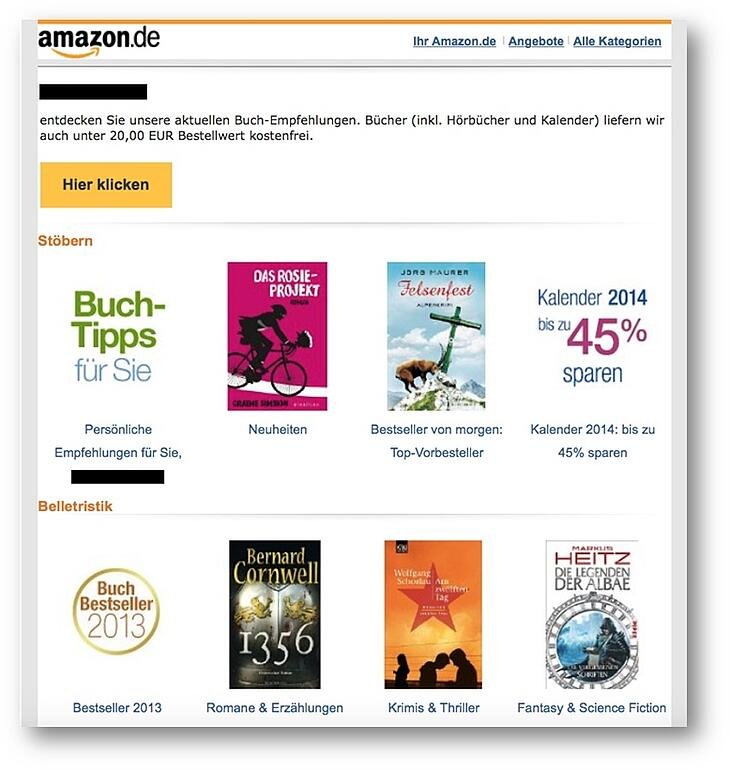 Lead-Nurturing-Beispiele – Amazon