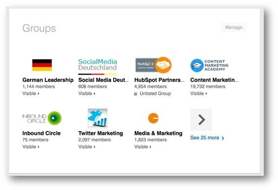 LinkedIn Marketing Gruppen beitreten