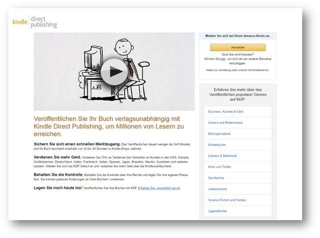 Amazon Eigenveröffentlichung Beispiel
