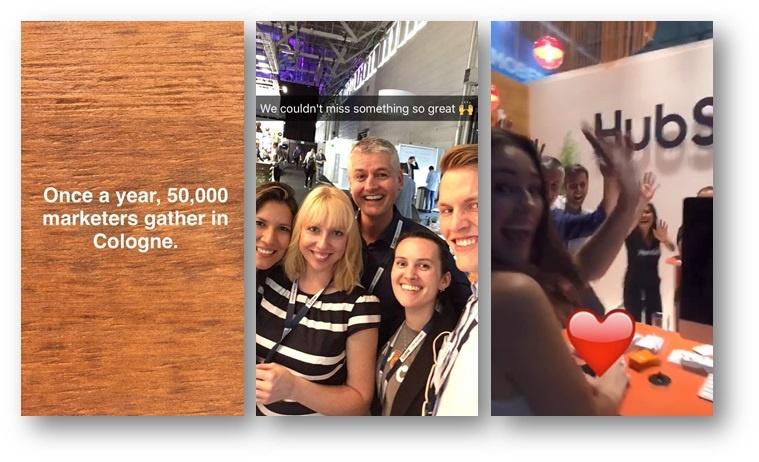Snapchat Marketing Beispiel
