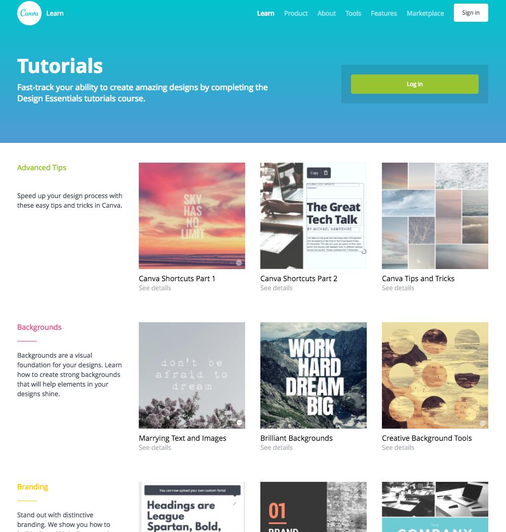 HubSpot - Visueller Content mit Canva - Design School Tutorials