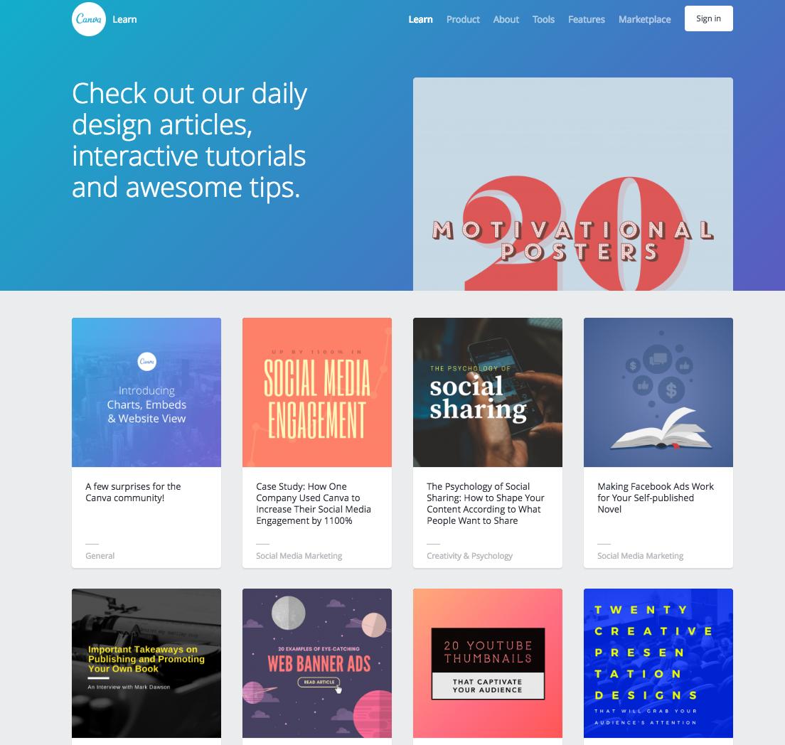 HubSpot - Visueller Content mit Canva - Design School Blog
