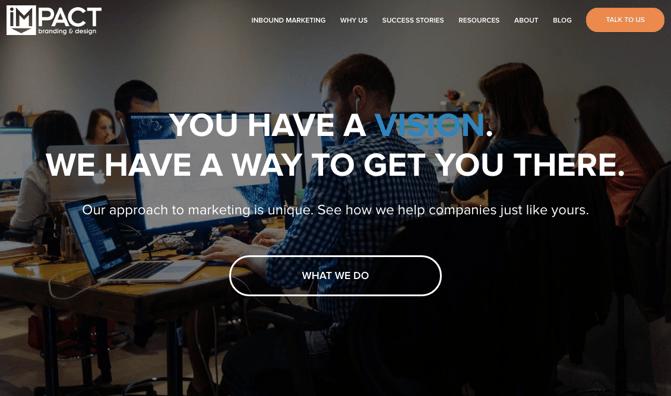 CTA auf der Website von IMPACT