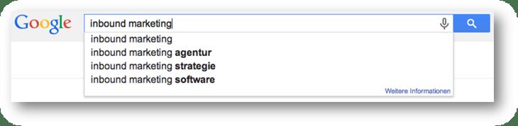 Keyword Recherche mit Google Autocomplete