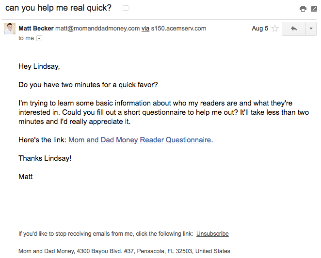 Beispiele herausragender E-Mail-Marketing-Kampagnen – Matt Becker