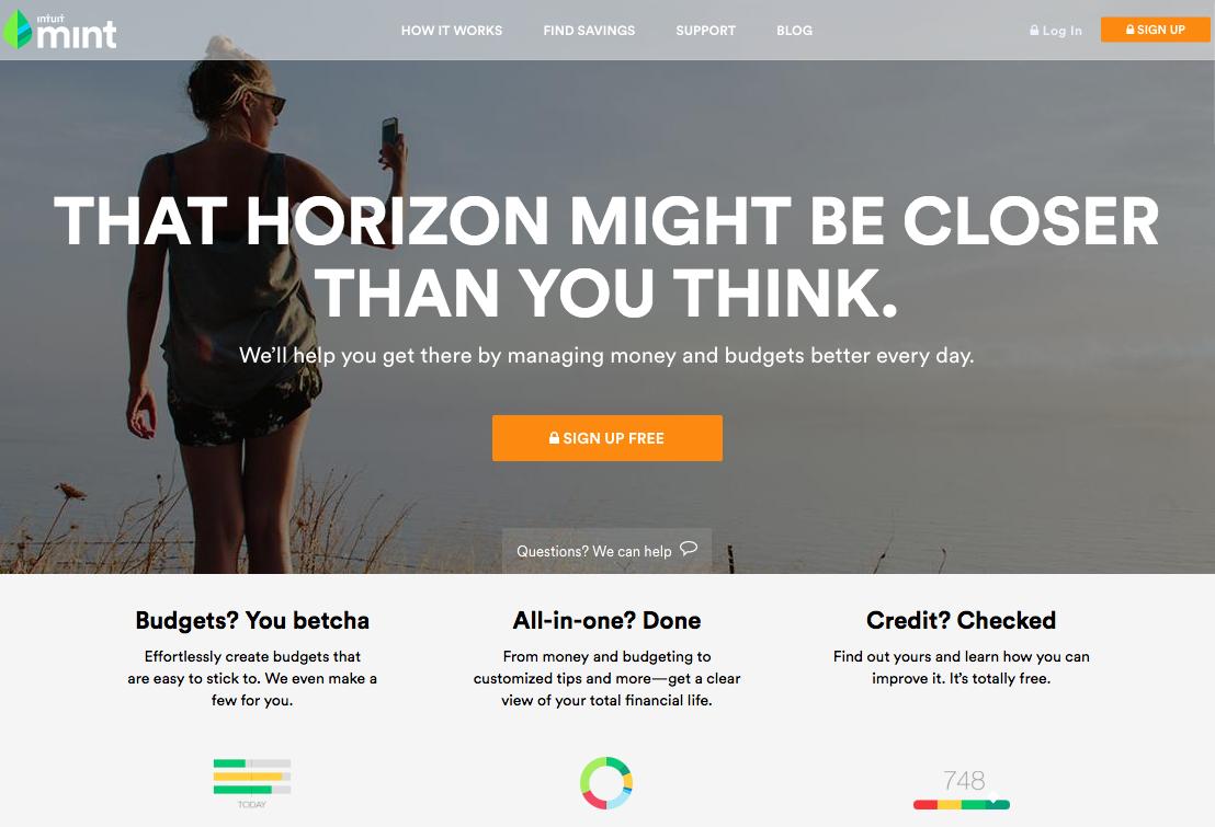 Beispiele von gutem Homepage-Design - Mint