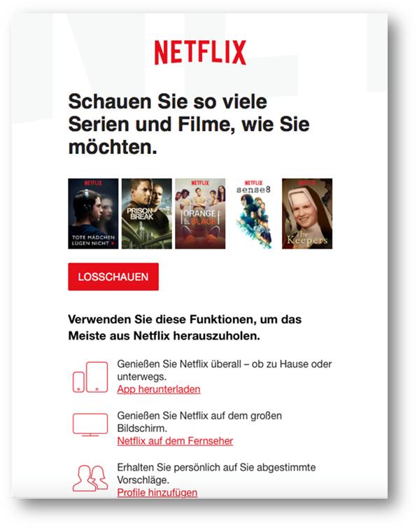 Netflix E-Mail-Marketing