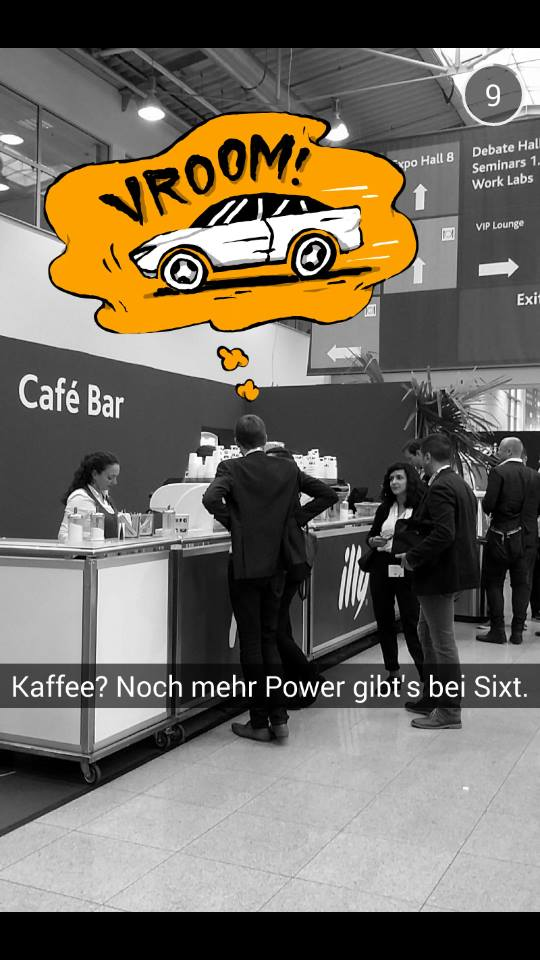 Snapchat-Marketing bei Sixt