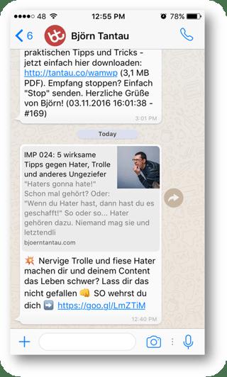 Björn Tantau WhatsApp
