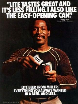 Werbekampagne – Plakat von Miller Brewing