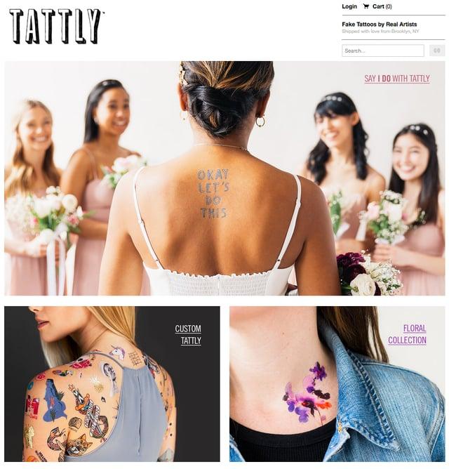 Beispiel eines Online-Shop – Tattly