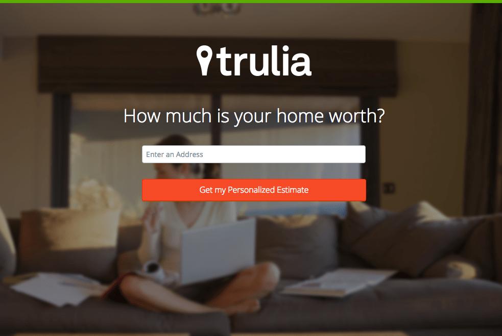 Beispiele für ansprechendes Landing-Page-Design – Trulia 01