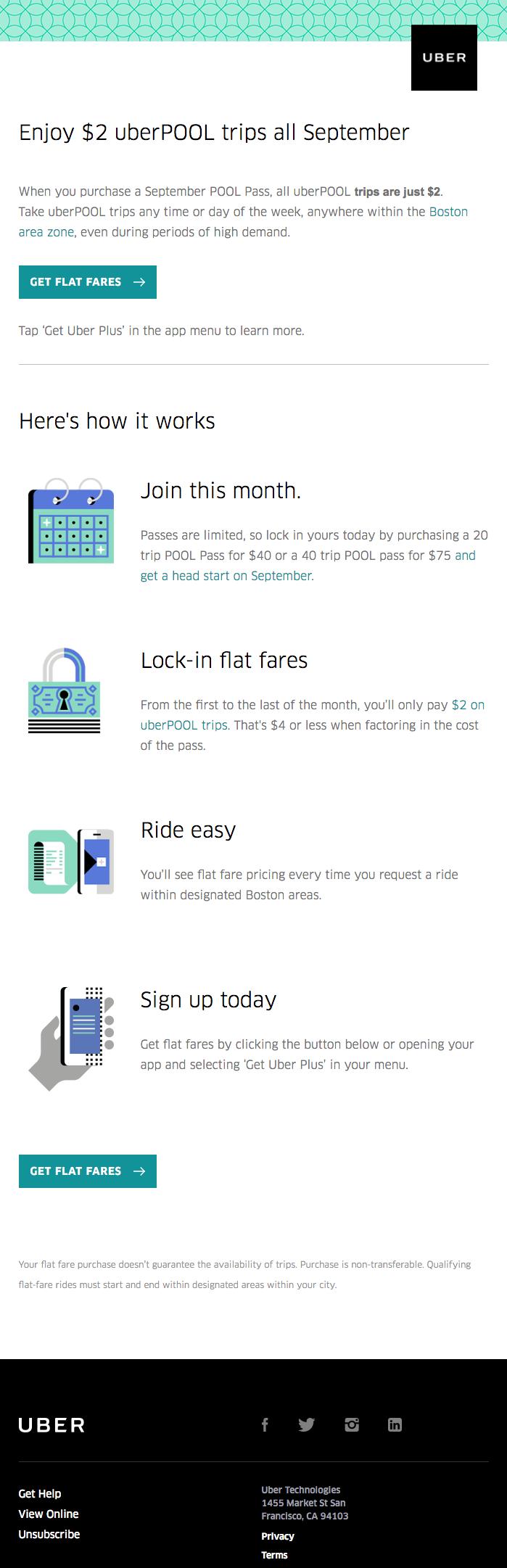 Beispiele herausragender E-Mail-Marketing-Kampagnen – Uber