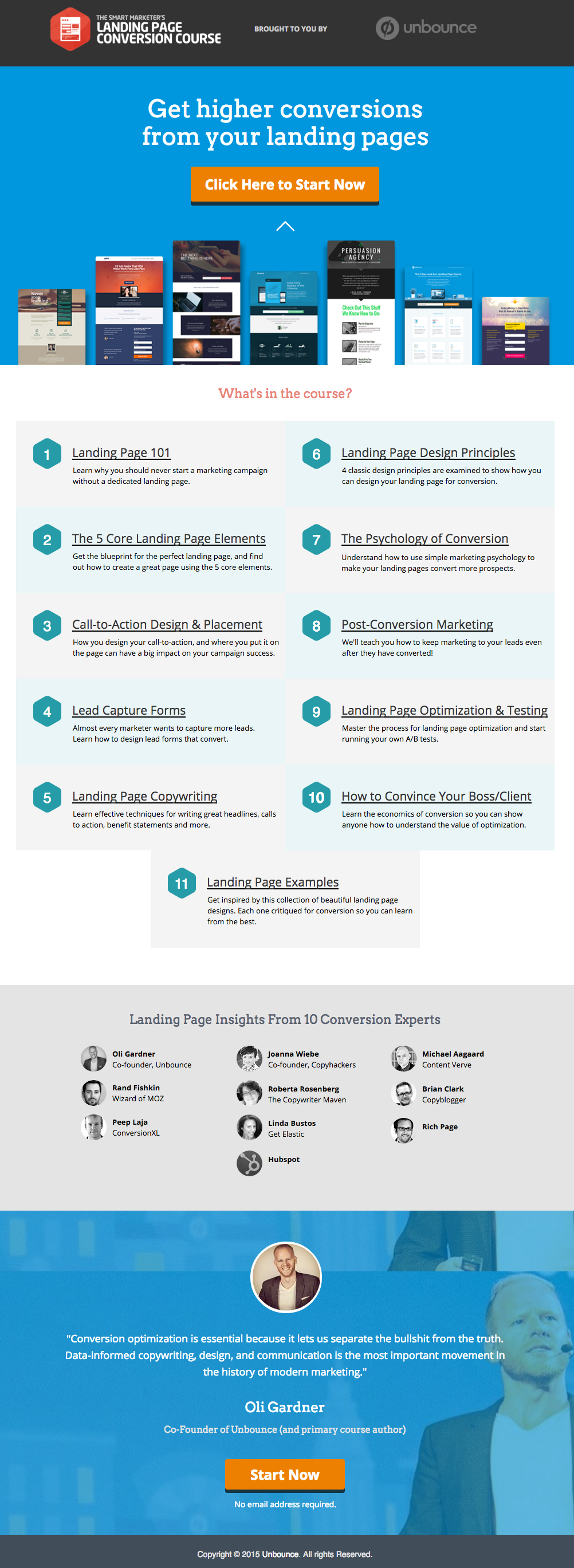 Beispiele für ansprechendes Landing-Page-Design – Unbounce