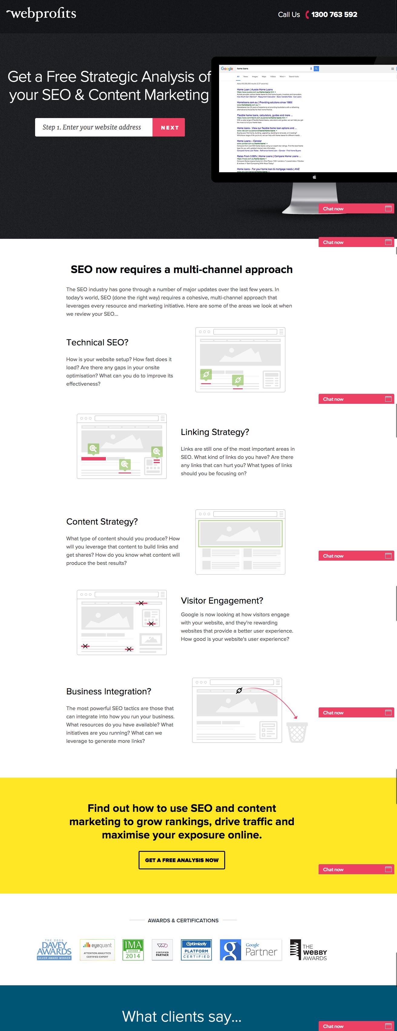Beispiele für ansprechendes Landing-Page-Design – webprofits