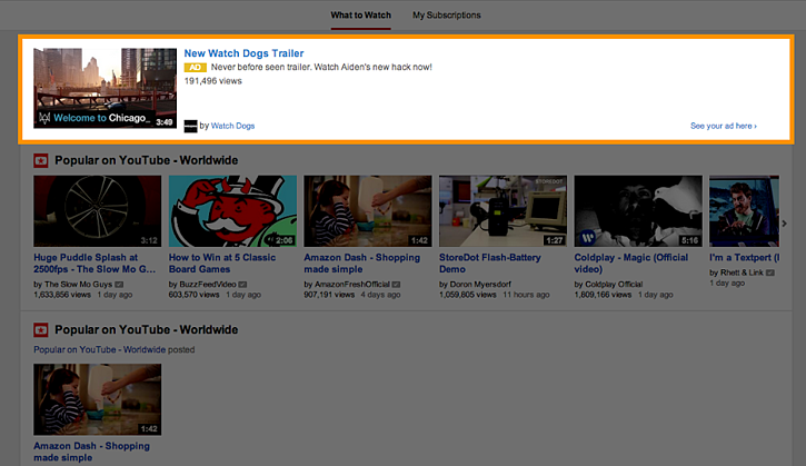 YouTube-Discovery-Anzeige 1