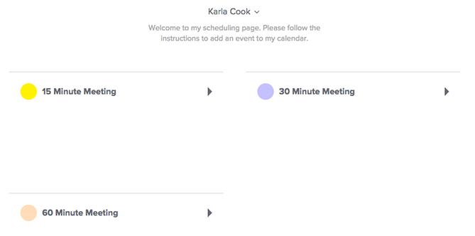 Tools für das Planen von Meetings – Calendly