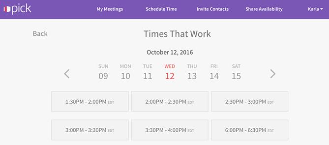 Tools für das Planen von Meetings – Pick