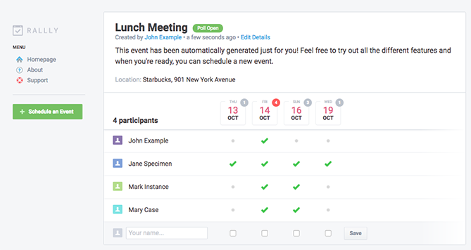 Tools für das Planen von Meetings – Rally