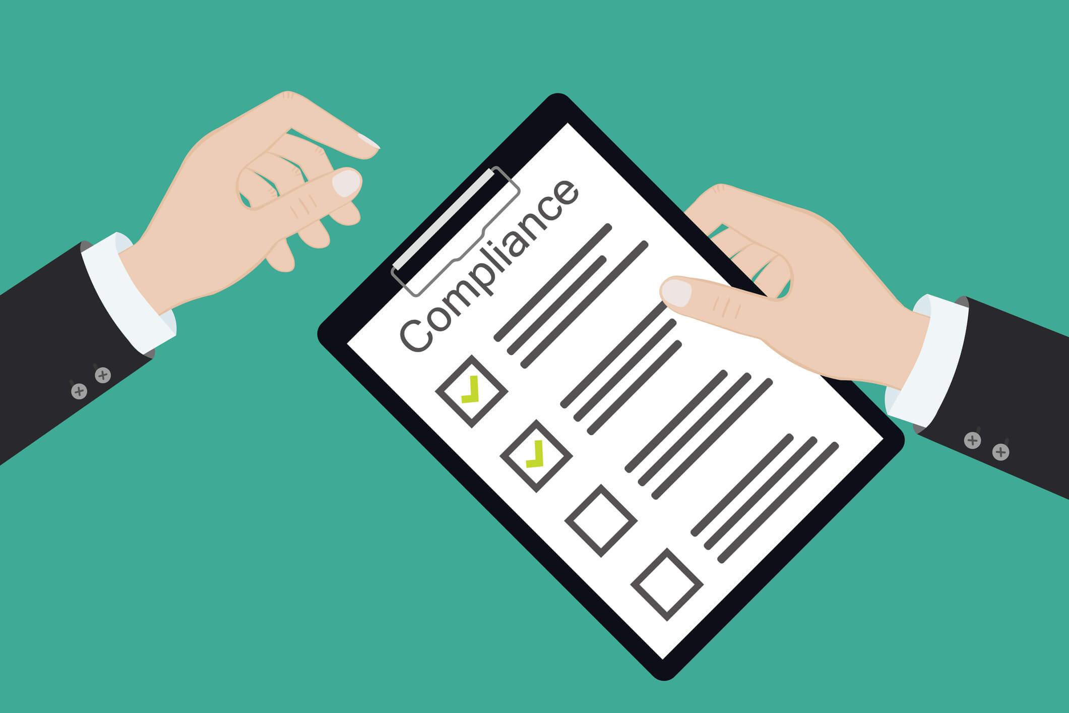 Hände-reichen-sich-Compliance-Checkliste