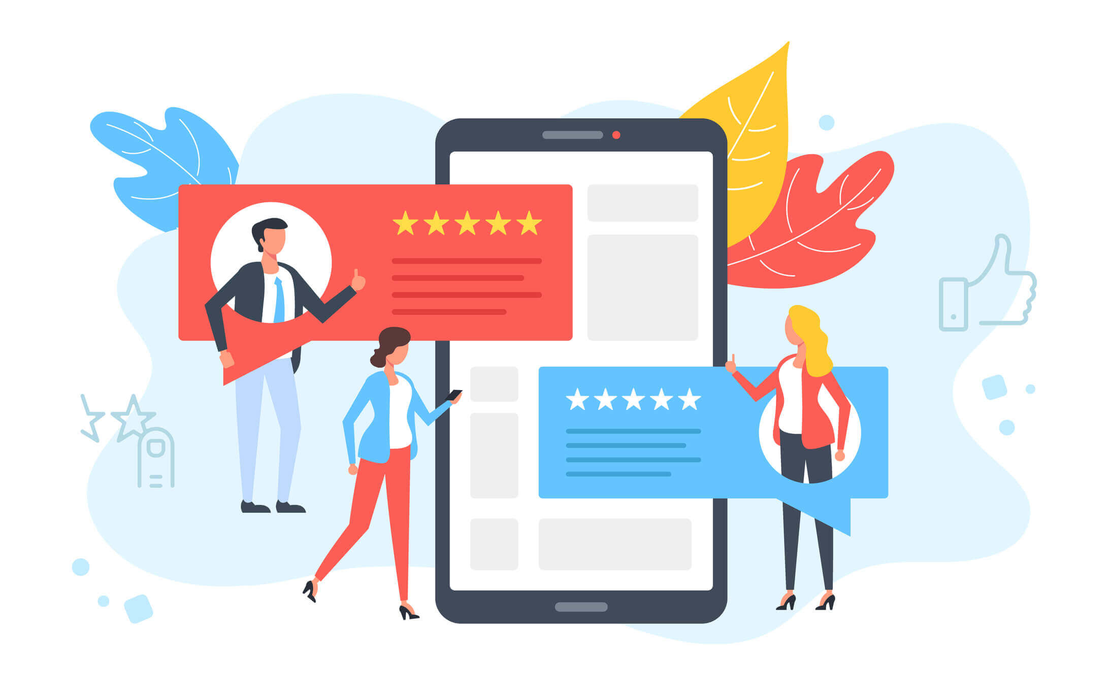 Kundenbewertungen-auf-dem-Smartphone