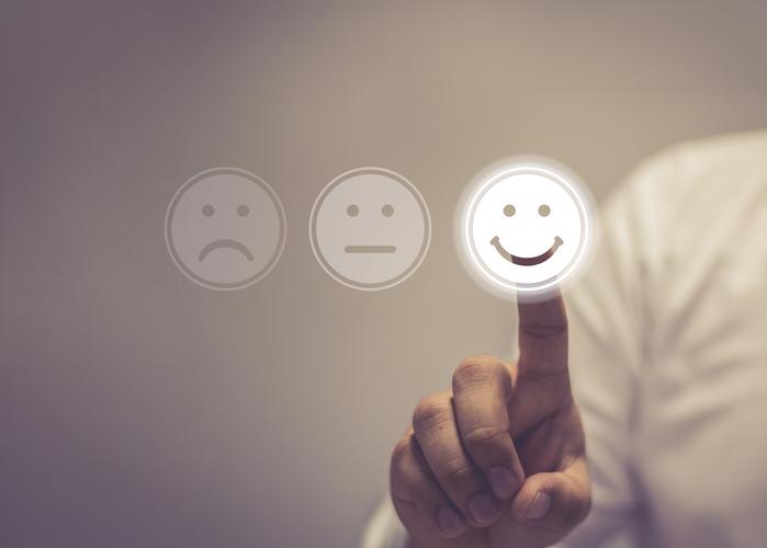 Positive Kundenbewertung abgeben