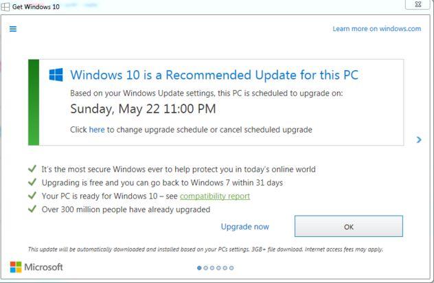 Dark Patterns beim Windows 10 Update