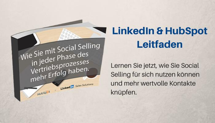 E-Book von LinkedIn & HubSpot: Was ist Social Selling und wie kann ich LinkedIn dafür nutzen?
