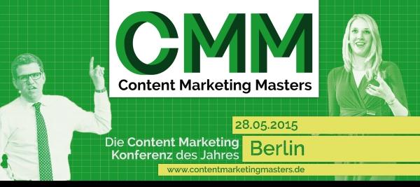 Content Marketing Masters in Berlin am 28. Mai: Gewinnen Sie jetzt 50% Rabatt auf Ihr Ticket